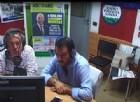Il leader della Lega nord, Matteo Salvini, ospite di Radio Padania Libera