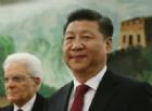Il presidente cinese Xi Jin Ping durante l'incontro con il Presidente della Repubblica, Sergio Mattarella.