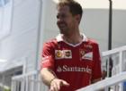 Sebastian Vettel nel paddock di Baku