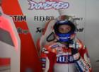 Andrea Dovizioso domina le libere, Valentino Rossi rompe