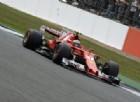 Kimi Raikkonen in azione sulla sua Ferrari a Silverstone