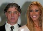 Miss Padania appena eletta fotografata insieme a Umberto Bossi