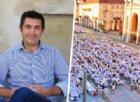 Clarizio e la cena in bianco in piazza Duomo