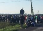 Migranti, nuova protesta fuori dal centro di Conetta