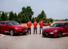 Vettel e Raikkonen si sfidano sulla Alfa Giulia