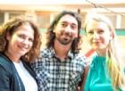 Da sinistra Chiara Gily, Diego Manna e Micol Brusaferro