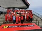 Festa per i 70 anni Ferrari a Silverstone, con l'esibizione di Marc Gené