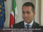 Di Maio intervistato dalla Bbc: «Mai detto di voler lasciare l'Ue»