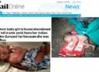 Neonata abbandonata tra i rifiuti e attaccata dalle formiche: orrore in India