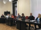 Sara Vito (Assessore regionale Ambiente ed Energia) all'incontro con il Comune e i rappresentanti dei comitati di quartiere di Monfalcone sulla richiesta di Fincantieri dell'Autorizzazione Integrata Ambientale