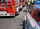 Furgone in fiamme sulla statale per Rivarolo