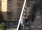 L'incendio di via Breglio angolo largo Casteldelfino