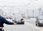 Controlli in piazza durante il blocco auto