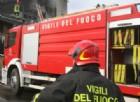 Vercelli: a fuoco il tetto di un'abitazione
