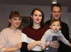 La giovane Matilde Sala con il piccolo Diego, e la sua famiglia