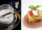 Crema di patata con Lapsan Souchon e linguine con calamaretti spillo e salsa di pane di segale