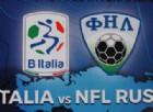 Amichevole internazionale calcio B Italia vs NFL Russia
