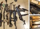 Le armi ritrovate dalla Squadra Mobile di Torino