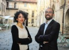 """Veronica Miele e Roberto Negro, fondatori di """"Kamzan"""", negli spazi di SellaLab"""