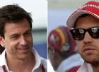 Vettel incontra il boss Mercedes: «Sì, abbiamo parlato...»