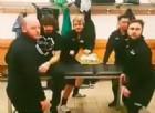 I giocatori dell'Us Trivignano 'sfidano' i colleghi l'Udinese ballando