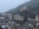 E' arrivata la neve anche in Liguria
