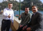 Pausa pranzo insieme: Toti e Salvini a Portofino