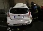 Incidente in galleria sulla A26, due feriti