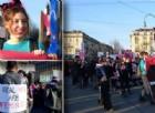 8 marzo a Torino: centinaia di uomini e donne in strada con «Non una di meno»