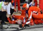Pasticcio al box di Raikkonen: ferito un meccanico Ferrari