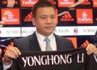 Milan: Yonghong Li scrive ai tifosi