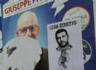Imola, manifestino con Salvini impiccato