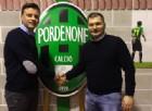 Il presidente del Fiume Veneto Bannia Luca Spagnol e il responsabile del Settore giovanile del Pordenone Denis Fiorin