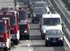 Incidente sulla Torino-Aosta - Immagine d'archivio