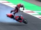 Ducati sfigata: botto pauroso per Pirro, motore esploso per Dovizioso