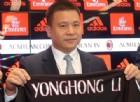 Milan: alle 17.00 di oggi potrebbe chiudersi l'era Yonghong Li