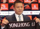 Sprofondo rossonero: Yonghong Li ci ripensa e inguaia il Milan