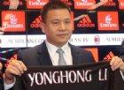 Yonghong Li indagato per falso in bilancio: rischia anche il Milan
