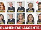 La top ten dei parlamentari assenteisti