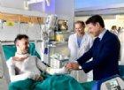 Riccardo Muci, il poliziotto eroe ferito durante i soccorsi dell'incidente