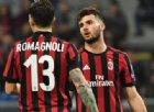 Milan: le condizioni di Romagnoli e Cutrone in vista del derby