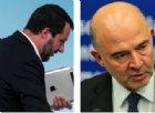 """Salvini: """"Se dalla Ue insistono con gli schiaffoni darò più soldi agli italiani"""". E Moscovici rilancia"""