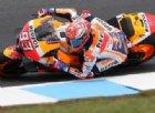 Gp Australia: Marquez in pole, Rossi e Dovizioso in terza fila