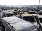 Savona, incendio in porto: distrutte centinaia di auto, molte Maserati