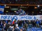 Sampdoria, striscioni e cori nella Sud per Gianluca Vialli
