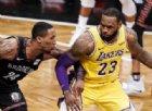 I Lakers travolgono gli Warriors anche senza LeBron