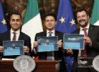 Decretone, Salvini si fa fotografare solo con il cartello Quota 100