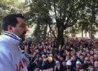 Salvini contestato a Melfi: «Io fascista? Madonna che noia»
