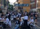 Un successo la cena in bianco e nero in via Poscolle