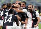A San Siro la Juventus di Sarri batte l'Inter 2-1 e vola in vetta